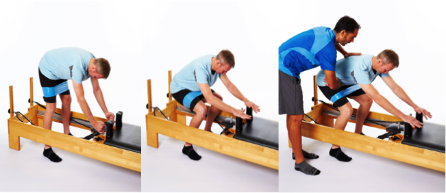 assisted squat in pilates reformer