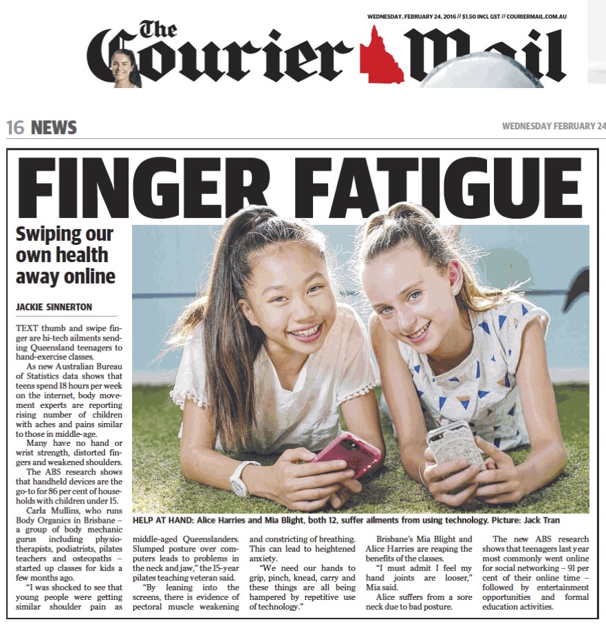 Finger Fatigue in Teenage Girls