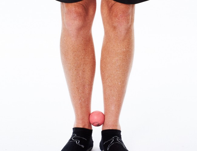 Calf Muscle Exercises for Acquired Calf Shortening Exercises With Pinky Ball