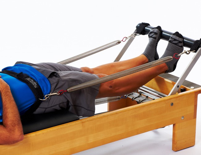 Reformer leg and footwork for those with bad backs