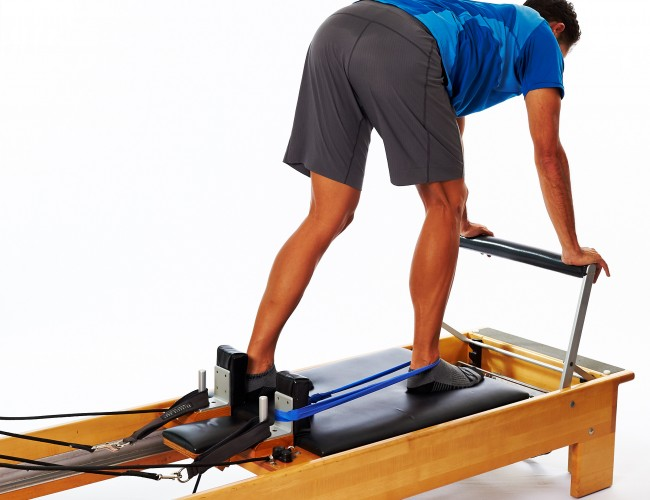 Reformer foot exercise