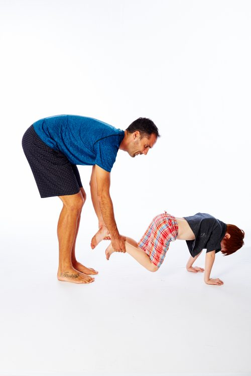 child in plank