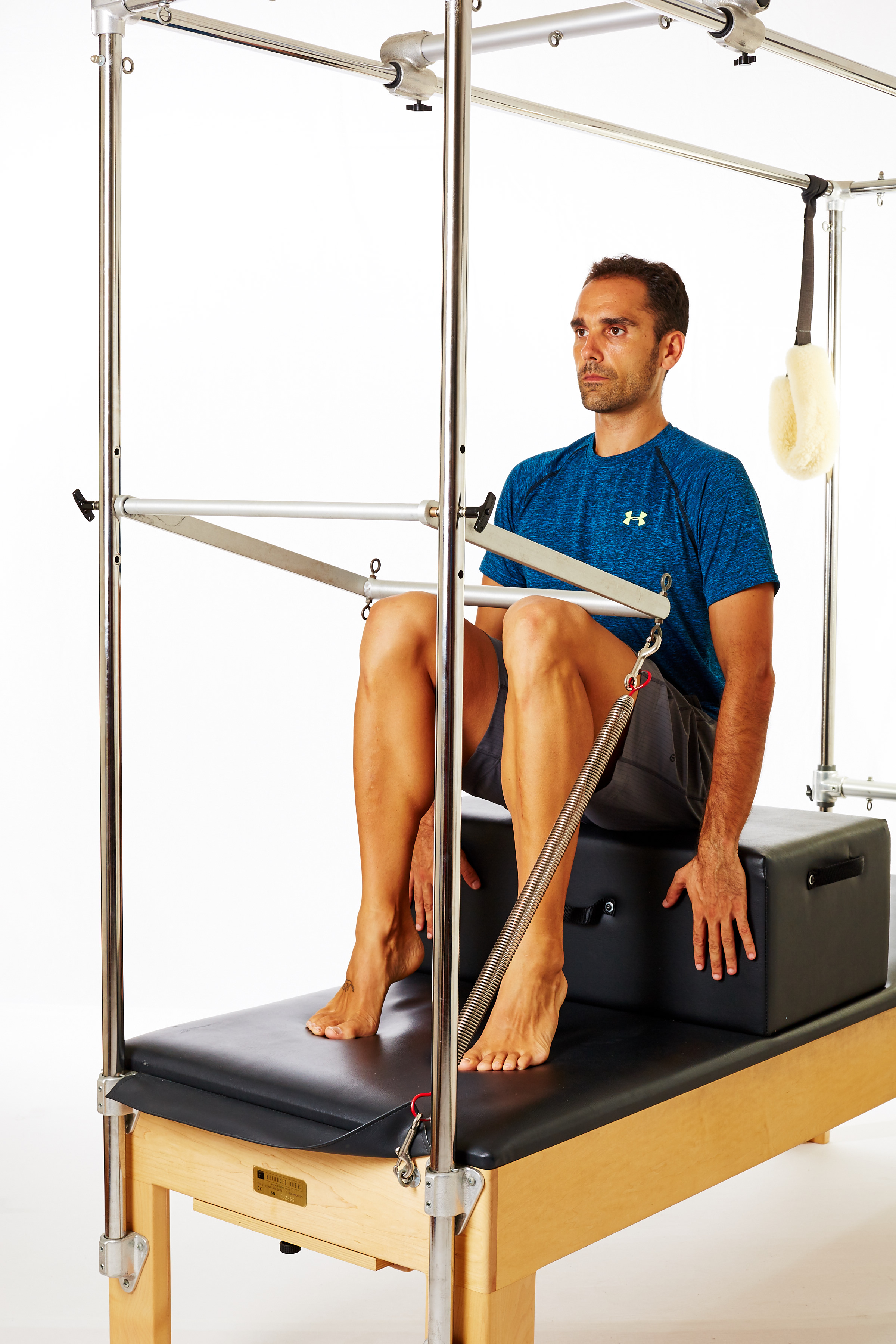 Achilles tendinopathy exercise using Cadillac and Long Box