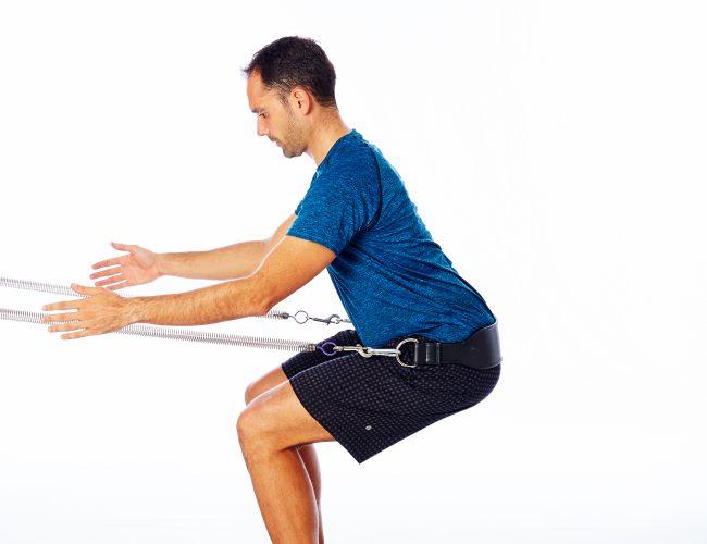 Assisted pilates squat for Trendelenburg gait