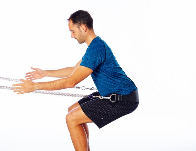 assisted squat for gluteal tendinopathy