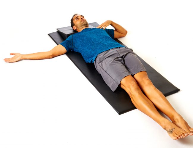 pilates supine floor snake