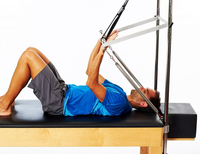 supine arm press for collarbone injuries