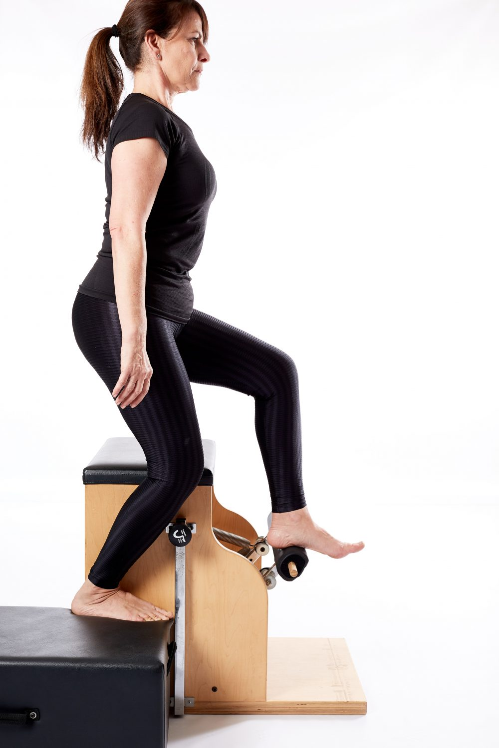 Wunda Chair step upo with Makarlu for knee replacement exercises